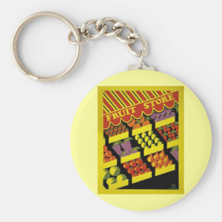 Fruit Store- WPA Poster - Basic Round Button Keychain