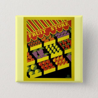 Fruit Store- WPA Poster - Pinback Button