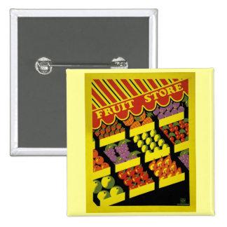 Fruit Store- WPA Poster - Pinback Button