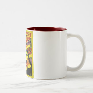 Fruit Store- WPA Poster - Two-Tone Coffee Mug