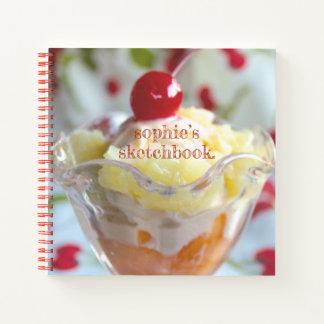 Fruit Sundae customizable spiral sketchbook Notebook