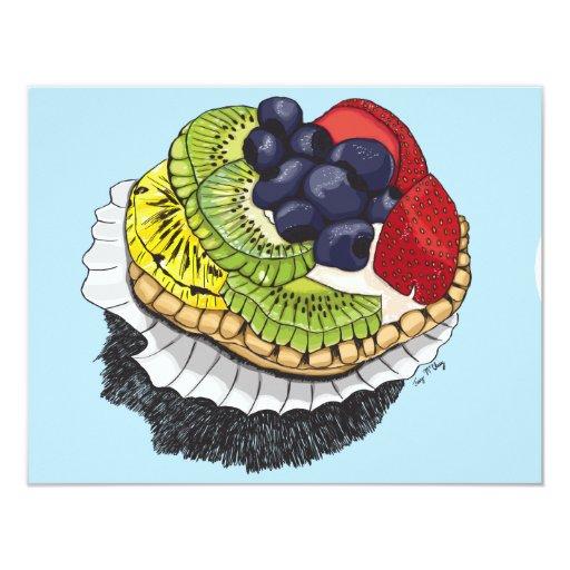 "Fruit Tart Dessert 4.25"" X 5.5"" Invitation Card"