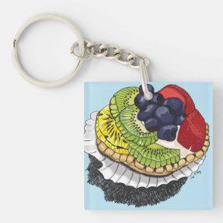 Fruit Tart Dessert Keychain