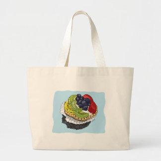 Fruit Tart Dessert Large Tote Bag