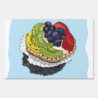 Fruit Tart Dessert Sign
