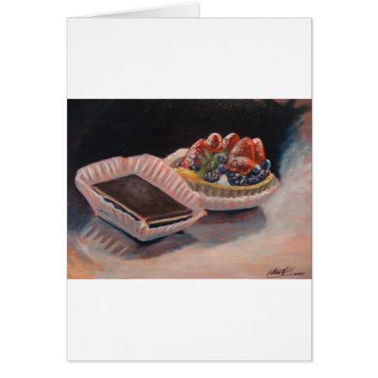 Fruit tart fudge painting on fun items! card