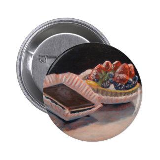 Fruit tart fudge painting on fun items! pinback button