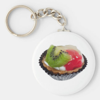 Fruit tart keychain