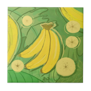Bananas 6X6 Fruit Tiles Hand-Painted Ceramic Tile