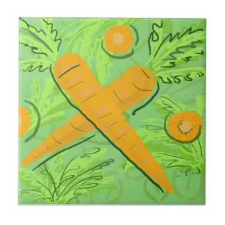 Fruit Tile: Carrots Ceramic Tile