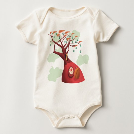 Fruit Tree Baby Baby Bodysuit