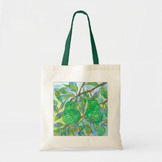 Fruit Tree Green Pears Watercolor Tote Bag