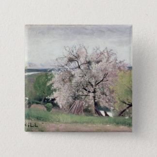 Fruit Tree in Blossom, Bois-le-Roi Pinback Button