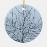 Fruit Tree in Winter Christmas Ornament