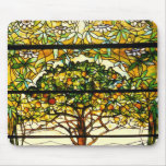 Fruit Tree Stained Glass by Louis Tiffany Mousepad