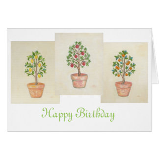 Fruit Tree Trio birthday card