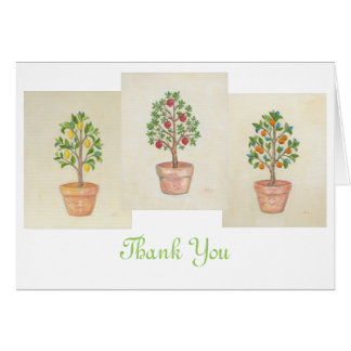 Fruit Tree Trio thank you card