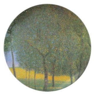 Fruit Trees by Gustav Klimt Plate
