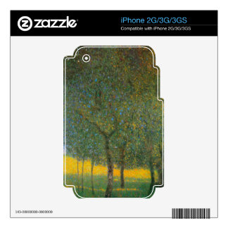 Fruit Trees by Gustav Klimt Skins For iPhone 3