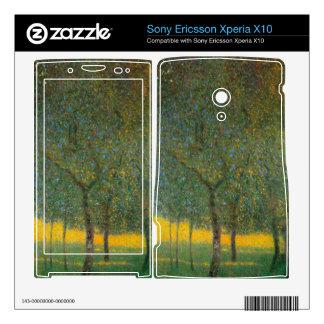 Fruit Trees by Gustav Klimt Xperia X10 Mini Pro Skin