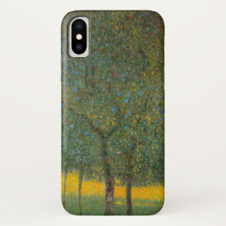 Fruit Trees by Gustav Klimt, Vintage Art Nouveau iPhone X Case