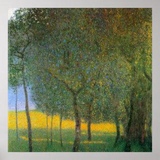 Fruit Trees by Gustav Klimt, Vintage Landscape Art Print