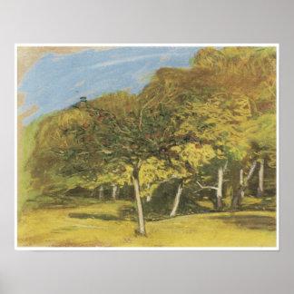 Fruit Trees, c. 1865-75, Claude Monet Print