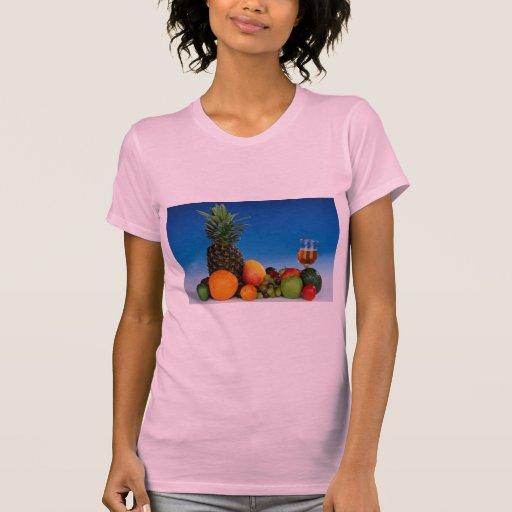 Fruit varieties and juice tee shirts