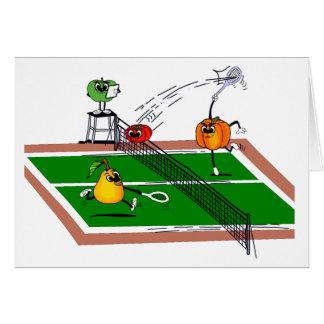 Fruit &Veg Tennis Card
