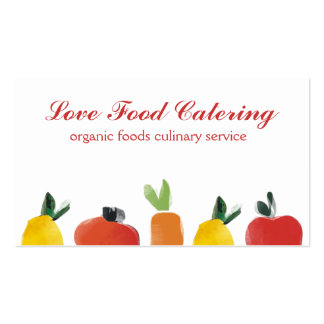 fruit vegetable tops chef catering business cards