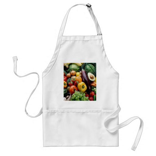 FRUIT & VEGETABLES ADULT APRON