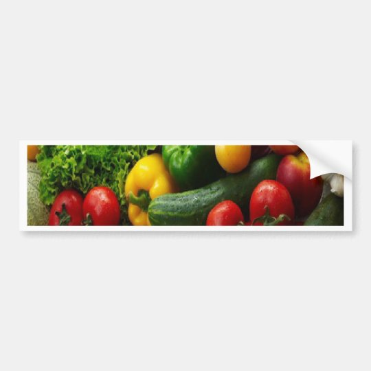 FRUIT & VEGETABLES BUMPER STICKER