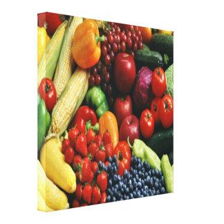 FRUIT & VEGETABLES CANVAS PRINT