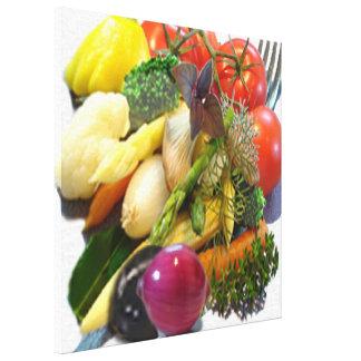Vegetable Wrapped Canvas Prints | Zazzle