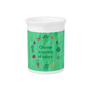 Fruit Vegetables Choose Variety of Colors Pitcher