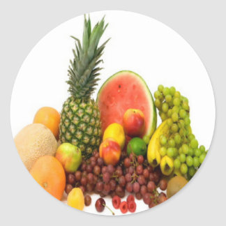 FRUIT VEGETABLES CLASSIC ROUND STICKER