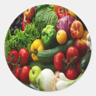 FRUIT & VEGETABLES CLASSIC ROUND STICKER