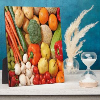 FRUIT & VEGETABLES DISPLAY PLAQUE
