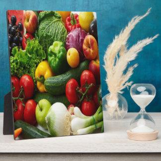 FRUIT & VEGETABLES PHOTO PLAQUES