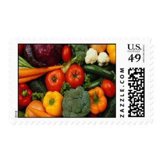 FRUIT & VEGETABLES POSTAGE STAMP