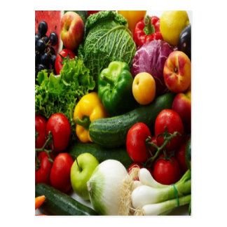 FRUIT & VEGETABLES POSTCARD