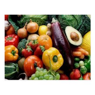 FRUIT & VEGETABLES POSTCARD