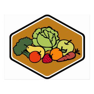 Fruit Vegetables Postcard
