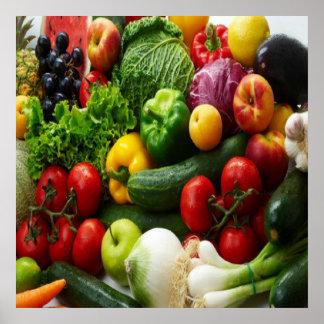 FRUIT & VEGETABLES PRINT
