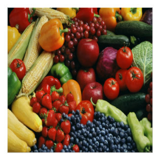 FRUIT & VEGETABLES POSTER
