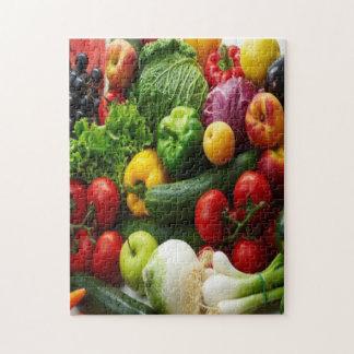 FRUIT & VEGETABLES PUZZLE