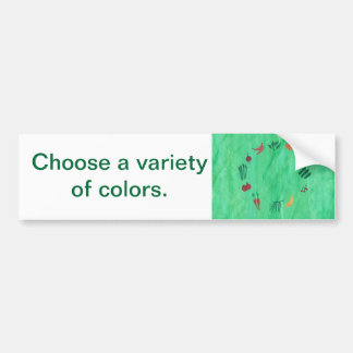 Fruit Vegetables Variety of Colors Bumper Stickers