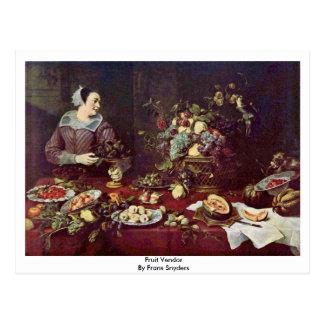 Fruit Vendor By Frans Snyders Postcard