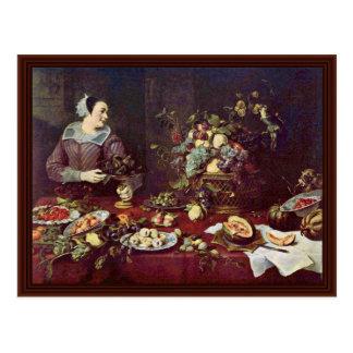 Fruit Vendor By Frans Snyders Post Cards