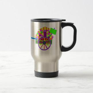fruit vendors wagon      travel mug